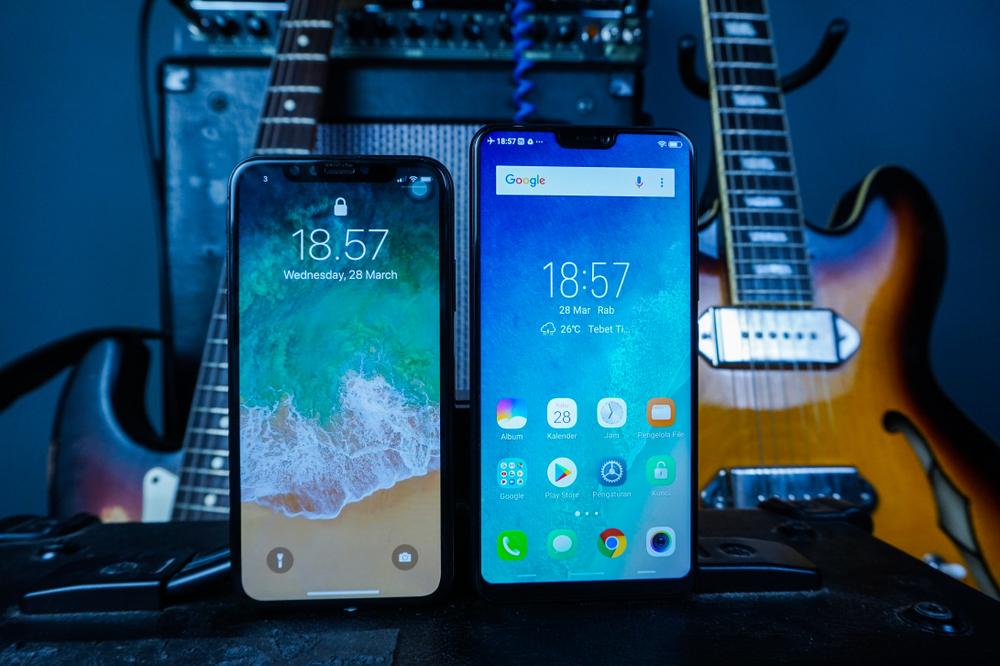 Apple telefonas ir Android telefonas